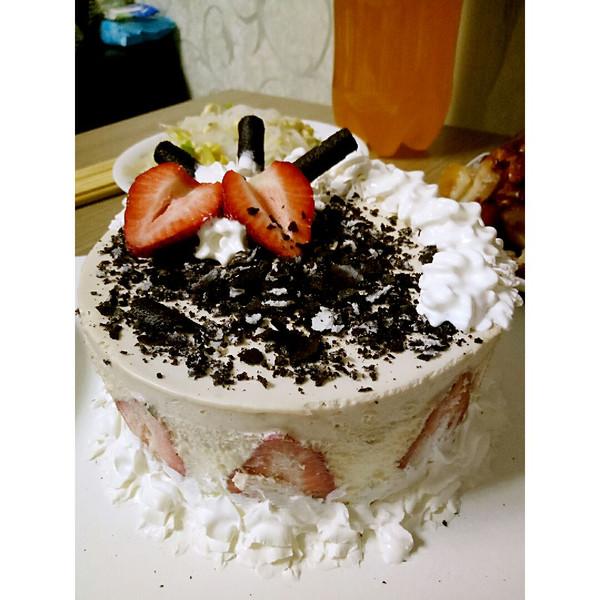 慕斯/巧克力慕斯水果蛋糕!第一次做特别成功!