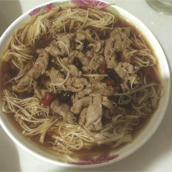 小何xx的白灼金针菇家常--菁选成品试用菜谱做塑封肥牛带鱼块的做法酱油图片