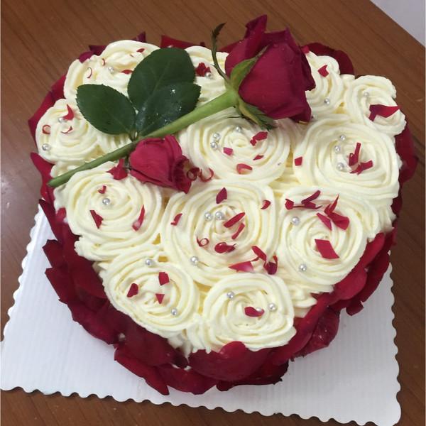 玫瑰花蛋糕图片