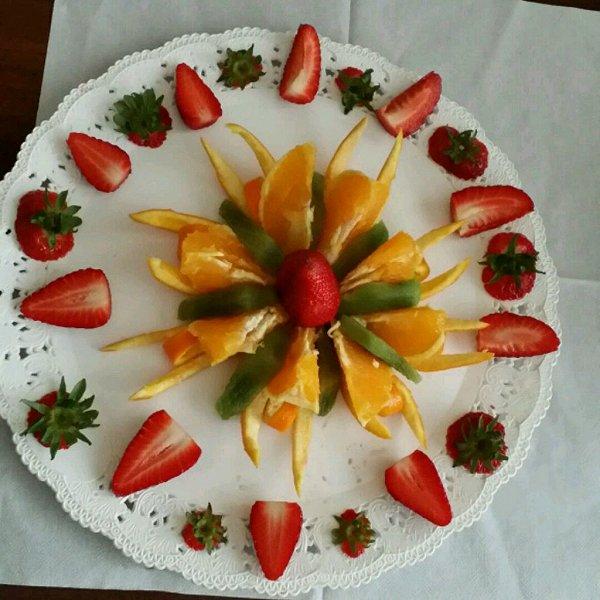 小家伙的妈妈的水果拼盘做法的学习成果照_豆果美食图片