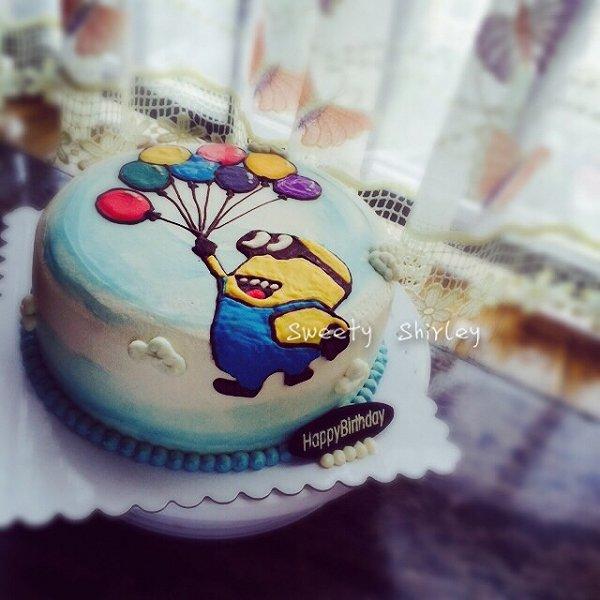 o的小黄人3D手绘蛋糕做法的学习成果照 豆果美食