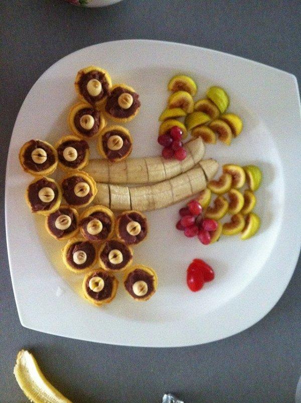 阿朱姐姐的创意水果拼盘做法的学习成果照
