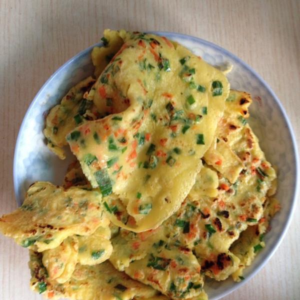 xu的韭菜鸡蛋煎饼做法的学习成果照